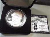 THE HIGHLAND MINT Silver Coin ANDRUW JONES